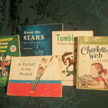 Thirteen 1940's, 1950's and 1960's Children's Books - Classics, Fiction, Non-Fiction, Fun