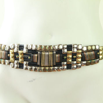 80s/90s -  Metal - Silver - Gold - Copper - Brass - Studded - Woven- Black Leather - Braided Rope - Statement Belt