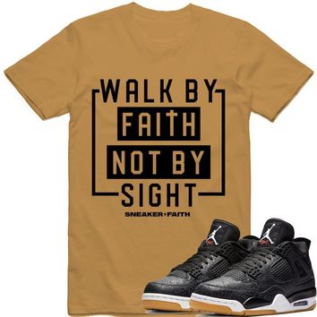 WALK BY Sneaker Tees Shirt - Jordan Retro 4 Black Laser Gum