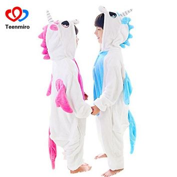 Unicorn Animal Bathrobes for Girls Children Clothing Sleepwear Boys  Bath Robes Kids Hooded Fleece Clothes Flannel PyjamaKawaii Pokemon go  AT_89_9