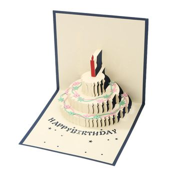 3D Pop Up Happy Birthday Greeting Card Handmade Card Easter Valentines Day