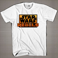 STARWARS REBELS LOGO  Mens and Women T-Shirt Available Color Black And White