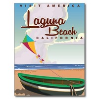 Laguna Beach California Vintage Travel Poster