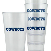 Dallas Cowboys Plastic Pint Glass Set