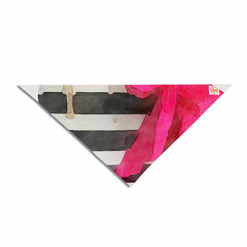 "Oriana Cordero  ""French Outing"" Black Pink Pet Bandana"
