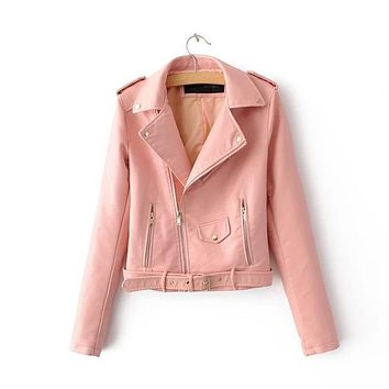 Pink Leather Jacket