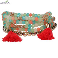 2015 Direct Selling Real Toggle-clasps Zinc Round Loom Band Bracelets European Design Huiyao Rope,pearl,ccb Fancy Bracelet For