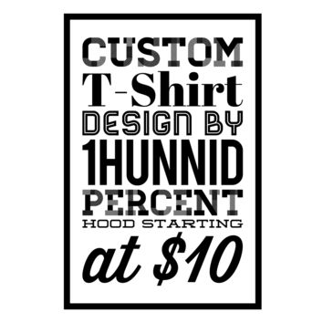 Custom T-Shirt Design w/ DTG or Sublimation Printing