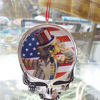 Grateful Dead Steal Your Face Sam  Christmas Ornament