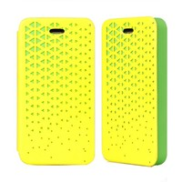 Hollow Out PU Phone Case For iPhone 4/4S Color Yellow