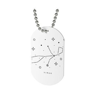 Silver Dog Tag - Virgo Constellation