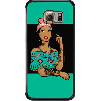 Pocahontas Hipster For Samsung Galaxy S6 Edge Case **