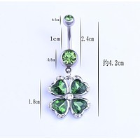 Body Jewelry Navel Belly Button Ring Sexy Dangle Piercing Surgical Steel