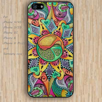iPhone 5s 6 case colorful flowers figure mandala life phone case iphone case,ipod case,samsung galaxy case available plastic rubber case waterproof B349