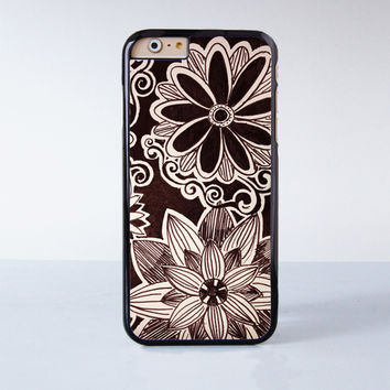 Lotus Flower Mandala Plastic Case Cover for Apple iPhone 6 6 Plus 4 4s 5 5s 5c