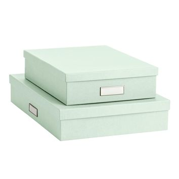 Bigso Mint Stockholm Office Storage Boxes