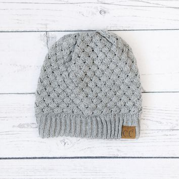 CC Knit Weave Beanies