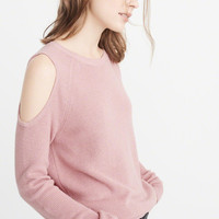 Womens Cold-Shoulder Sweater | Womens Tops | Abercrombie.com