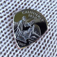 Custom Coin Guitar Pick - Handmade with a 2005 California State Quarter Proof Coin