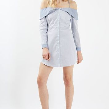 Stripe Bardot Shirtdress - New In