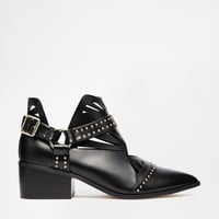 ASOS RYOKO Cut Out Western Ankle Boot
