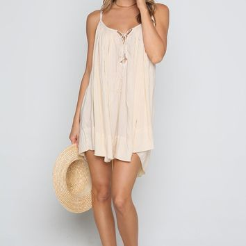 INDAH Ashbury Mini Dress - Desert | ISHINE365