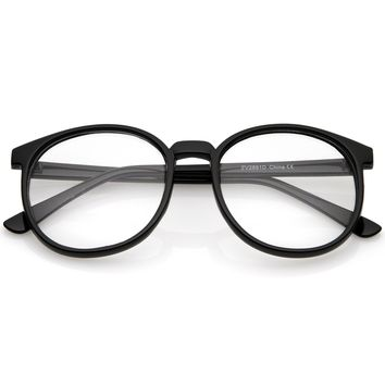 Classic P3 Horn Rimmed Clear Lens Round Eyeglasses 53mm