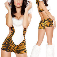 Leopard Cosplay Anime Cosplay Apparel Holloween Costume [9211506948]