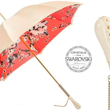 Pasotti Flowered Vintage Swarovski Umbrella