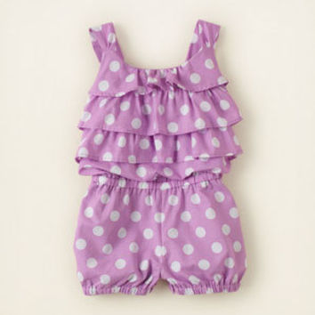 baby girl - dresses & rompers - polka dot romper | Children's Clothing | Kids Clothes | The Children's Place