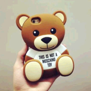 Moschino Teddy Bear Silicone iphone 6/PLUS IPHONE5 case