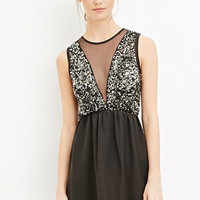 Sequin Fit & Flare Dress