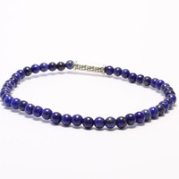 Blue beaded stretchy bracelet custom made yoga bracelet
