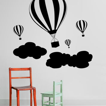 Vinyl Wall Decal Sticker Hot Air Balloons #1136