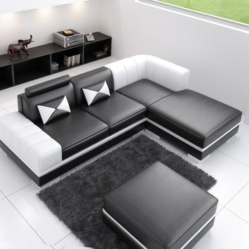 Track Unusual Leather Sectional by Scene Furniture - Opulentitems.com