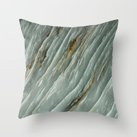 Marble Texture 53 Throw Pillow by Robin Curtiss