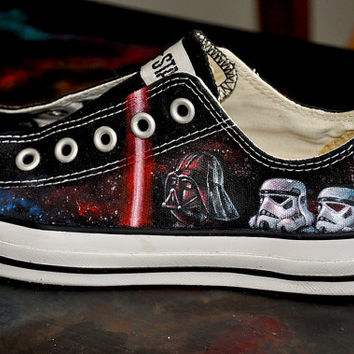 6d8ed72a7d65d Custom Hand Painted Shoes- Star Wars