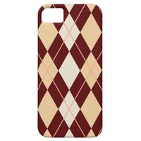Argyle Pattern Brown iPhone Case iPhone 5 Cases from Zazzle.com