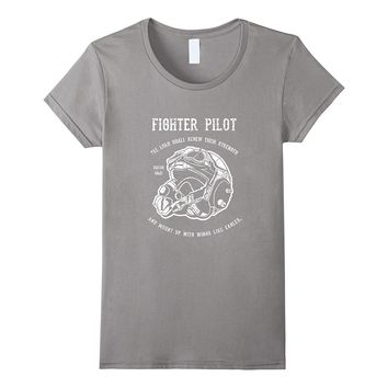 Christian Military Shirt - Fighter Pilot with Bible Verse