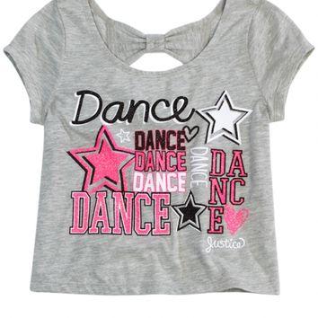 Dance Bow Back Graphic Tee | Girls Graphic Tees Clothes | Shop Justice
