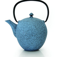 STUDIO Blue Acorn Cast Iron Teapot with Infuser 1.2 Qt. (1.1L)