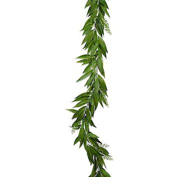 Artificial Willow Leaf and Berry Garland - 6' Long
