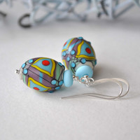 Earrings Artisan Lampwork Dangle Earrings