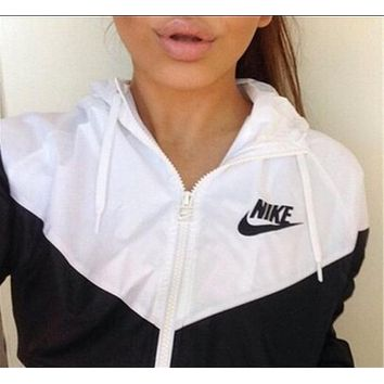 fashion nike hooded zipper cardigan sweatshirt jacket coat windbreaker sportswear-3