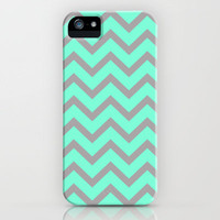 Tiffany Grey Zigzag Chevron Pattern iPhone Case by RexLambo | Society6