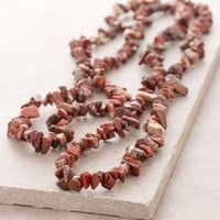 Red Jasper Gemstone Nugget Necklace