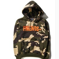 Hip hop streetwear brand 2017ss V lone high quality camouflage with cashmere Hoodie hooded tide brand men