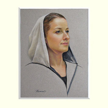 Custom Portrait from Photo. Pastel Painting Portrait of Adult.