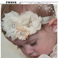 TWDVS Baby Headband Hair Bowknot Headbands Infant Hair Accessories Girls grosgrain ribbon Bow Headband Toddler hair bands w--037