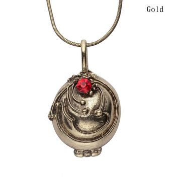 The Vampire Diaries Antique Silver Gold Locket Necklace